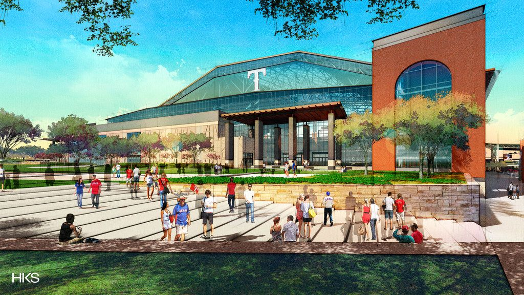 Here's what the northeast entry will look like at Globe Life Field, the new home for the Texas Rangers.