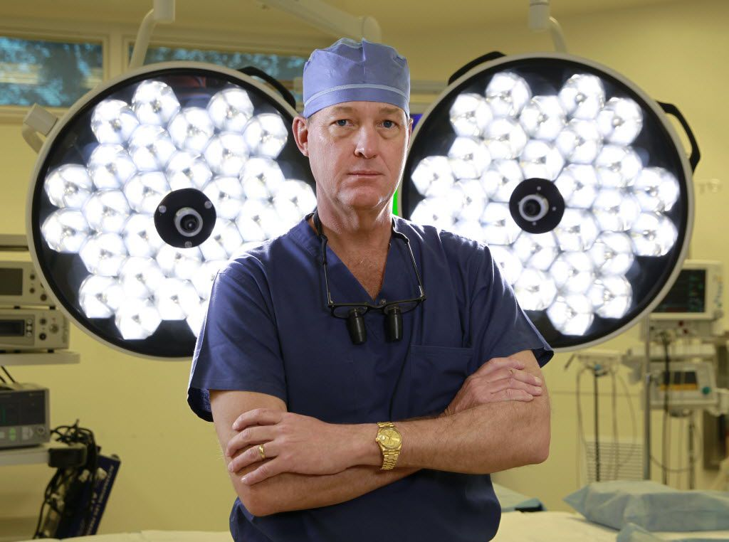 Dallas Surgeon, Dr. Randall Kirby stands in an operating room at Forest Park Medical Center on Monday, February, 17, 2014. (David Woo/The Dallas Morning News)