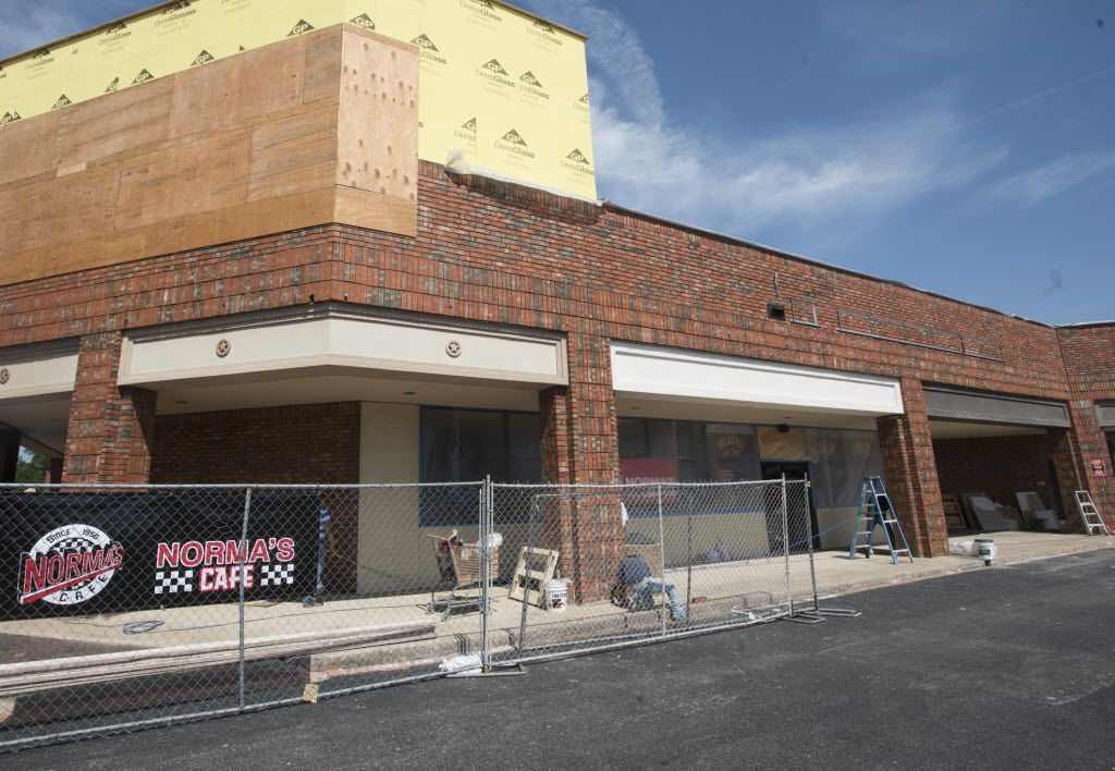 Unfinished Exterior the newest location of Norma's Cafe in Caruth Plaza on Friday, July 8, 2016.