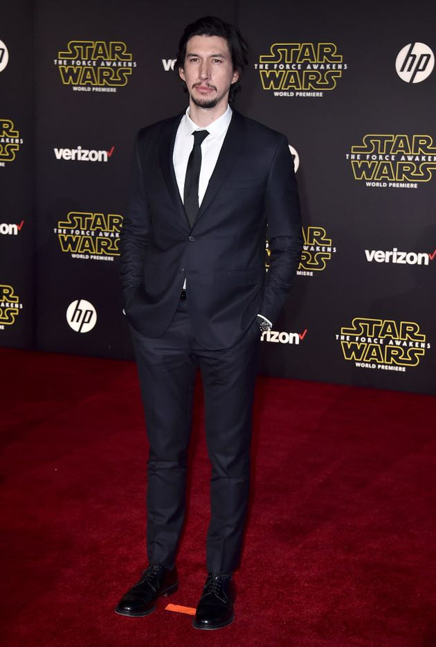 """Adam Driver arrives at the world premiere of """"Star Wars: The Force Awakens"""" at the TCL Chinese Theatre on Monday, Dec. 14, 2015, in Los Angeles. Driver plays the role of Kylo Ren in the film."""