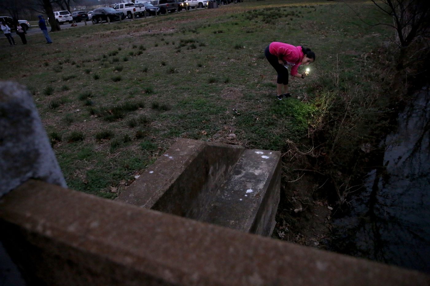Atziry Mireles searches for her missing sister Weltzin Garcia Mireles, 26, and Alfonso Roderick Hernandez, 28.