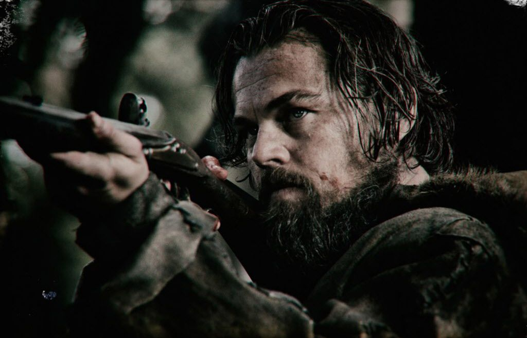 """Leonardo DiCaprio in """"The Revenant,"""" which leads the field with twelve nominations."""