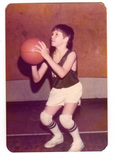 Jimbo Fisher as a peewee basketball player.