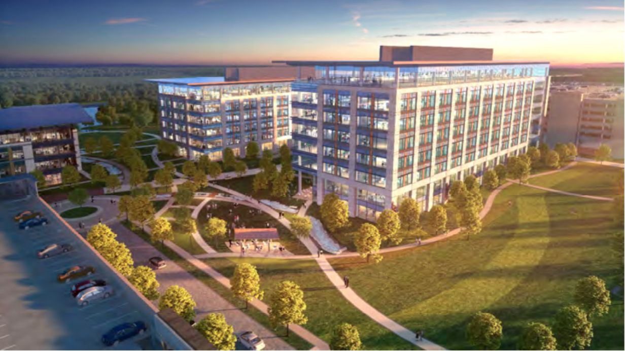Charles Schwab is working on plans for two office buildings that would house thousands of workers at its Westlake campus.