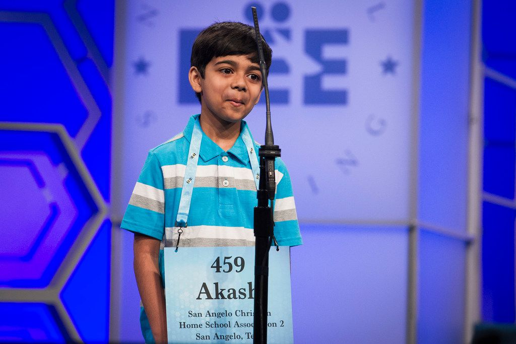 "Akash Vukoti, a fan favorite from San Angelo, spelled ""Tibetan"" correctly in the second round of the Scripps National Spelling Bee but stumbled on ""sabra"" in the third round and was eliminated."
