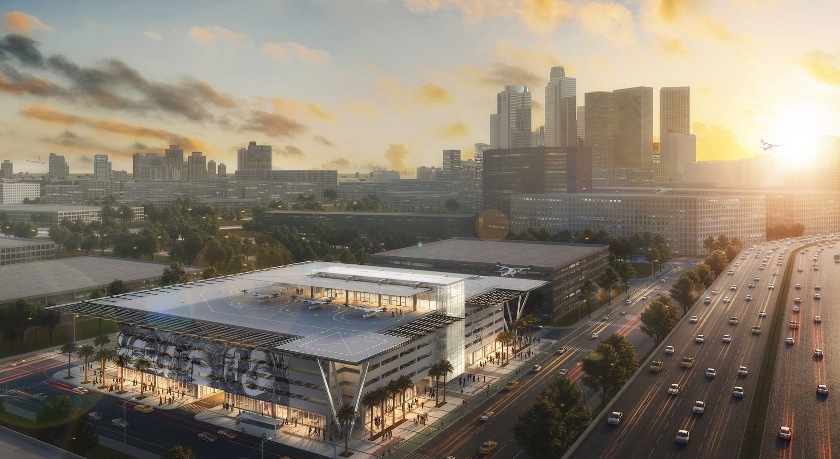 Gensler's design for its Skyport Mobility Hub.