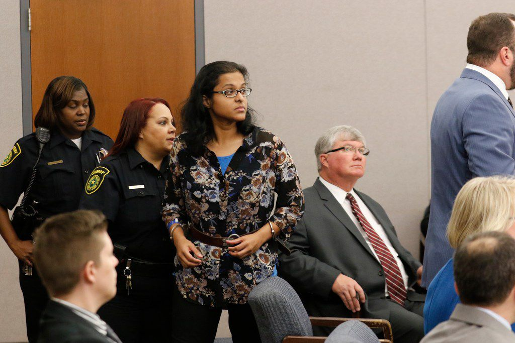 Sini Mathews, mother of Sherin Mathews, appeared in Judge Cheryl Lee Shannon's courtroom on Wednesday.