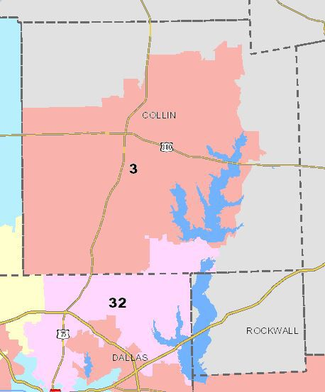The 3rd Congressional District comprises most of Collin County.