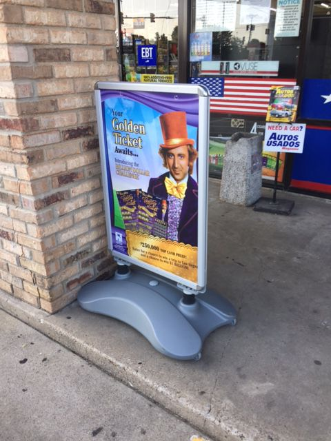 Millions of dollars were spent to promote the lottery's Willy Wonka Golden Ticket game. (Dave Lieber/Staff)