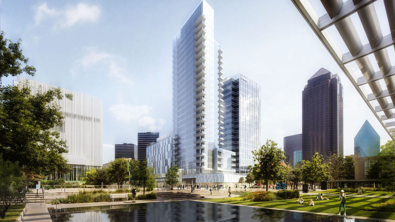 Developer Craig Hall's planned Arts District high-rise will include a luxury hotel and condominium units between Ross Avenue and Flora Street.