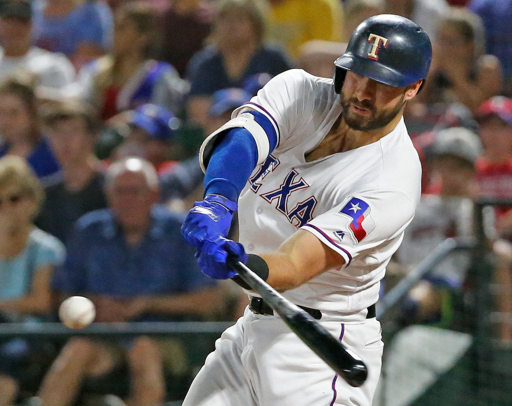 Texas Rangers first baseman Joey Gallo (13) is pictured during the Chicago White Sox vs. the Texas Rangers major league baseball game at Globe Life Park in Arlington, Texas on Saturday, June 30, 2018. (Louis DeLuca/The Dallas Morning News)