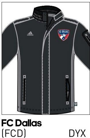 2016 FC Dallas coach's jacket.