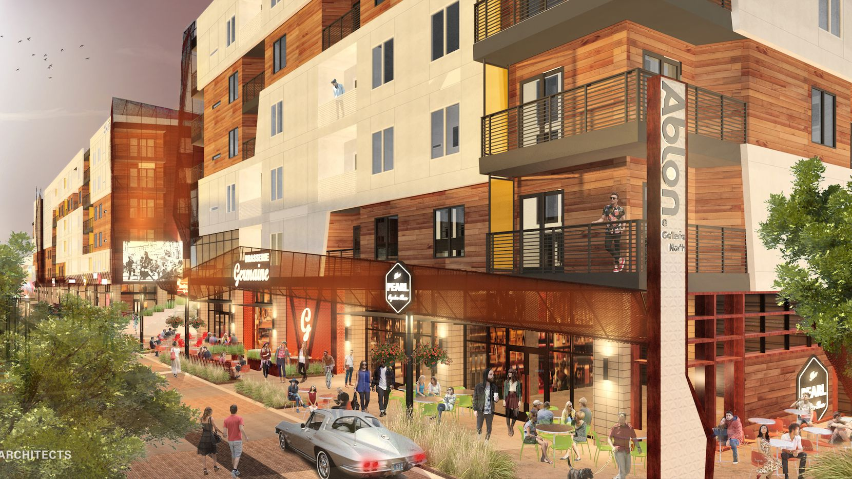 The Ablon at Galleria Muse development on Alpha Road will include new apartments and retail development.