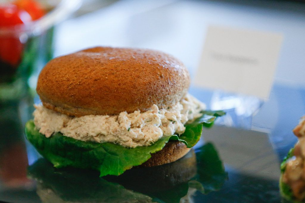 Keeping with the healthy theme, there's also a new tuna sandwich served on a whole-wheat bun.