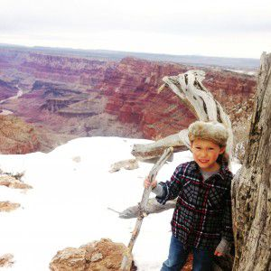 "Reuben ""Chuy"" Kendrick takes a break while visiting the Grand Canyon."