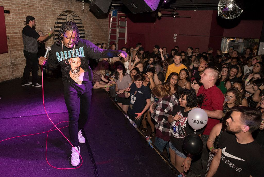 For Emo Nite, DJ Jay Webster plays music by artists like Paramore, Panic! At The Disco, A Day To Remember and Taking Back Sunday. Much of it comes from from audience suggestions on social media. (Rex C. Curry/Special Contributor)