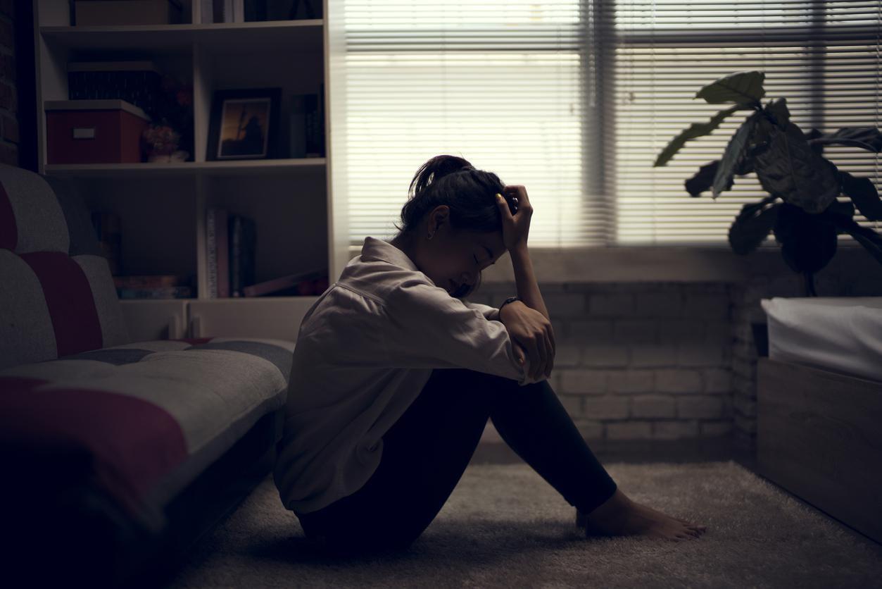 Una mujer con síntomas de depresión.(GETTY IMAGES)