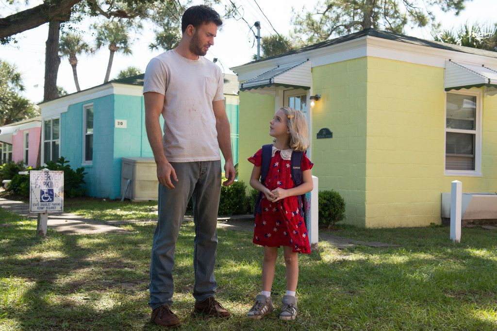 """Chris Evans, left, and McKenna Grace appear in a scene from, """"Gifted."""""""