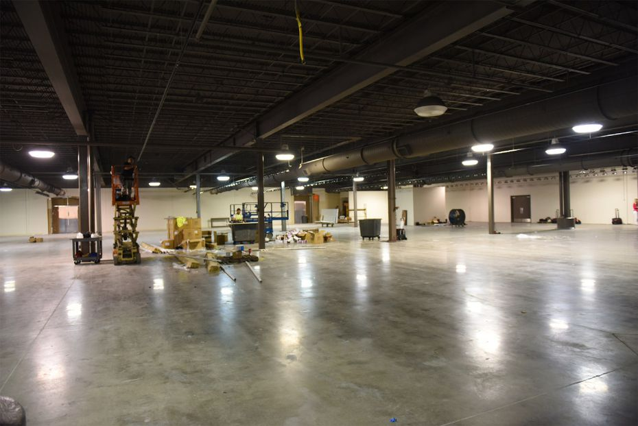 New space behind the Weir's Furniture Outlet store in Farmers Branch. The store is expanding into this area.
