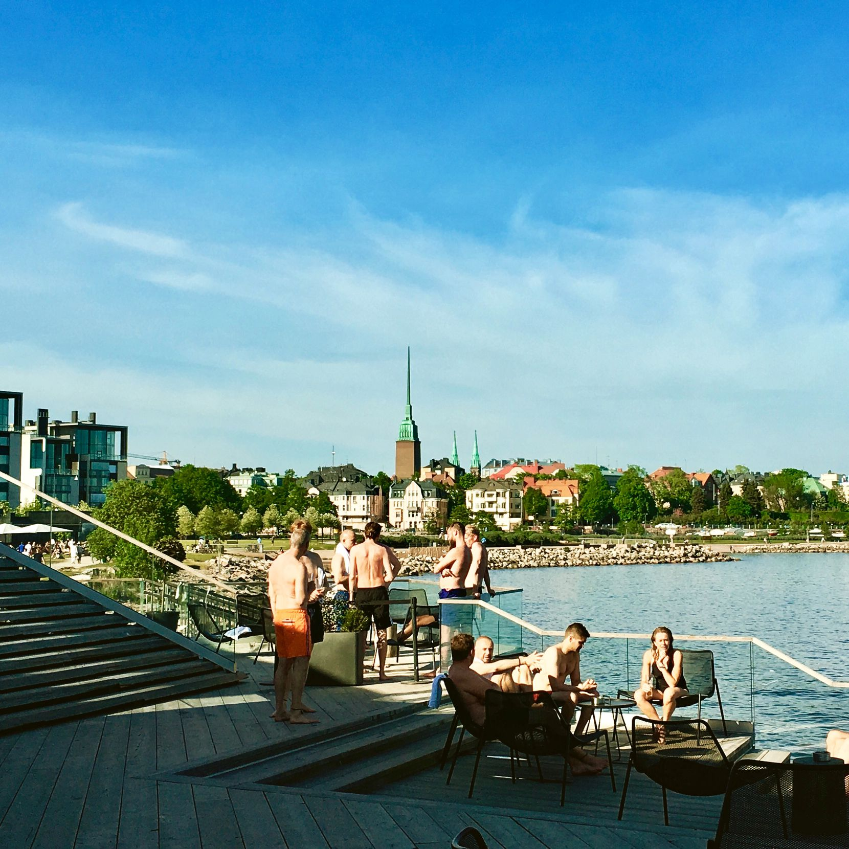 Guests of the Löyly  sauna can warm up and then take a frigid plunge in the Gulf of Finland.
