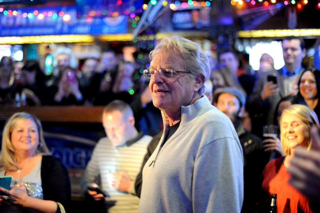 Television host Jerry Springer arrives to greet fans before singing Elvis songs at McKinney Avenue Tavern in Dallas, TX on January 8, 2014. (Alexandra Olivia/ Special Contributor)