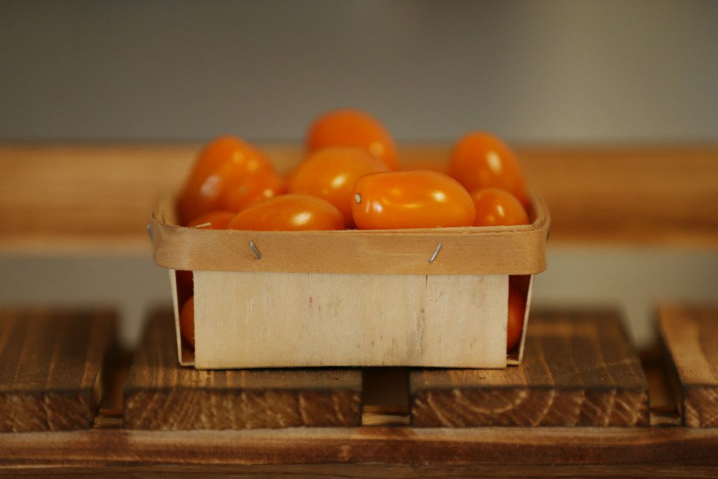 Cherry tomatoes from Marfa, Texas, at The Farmacy in Edom.