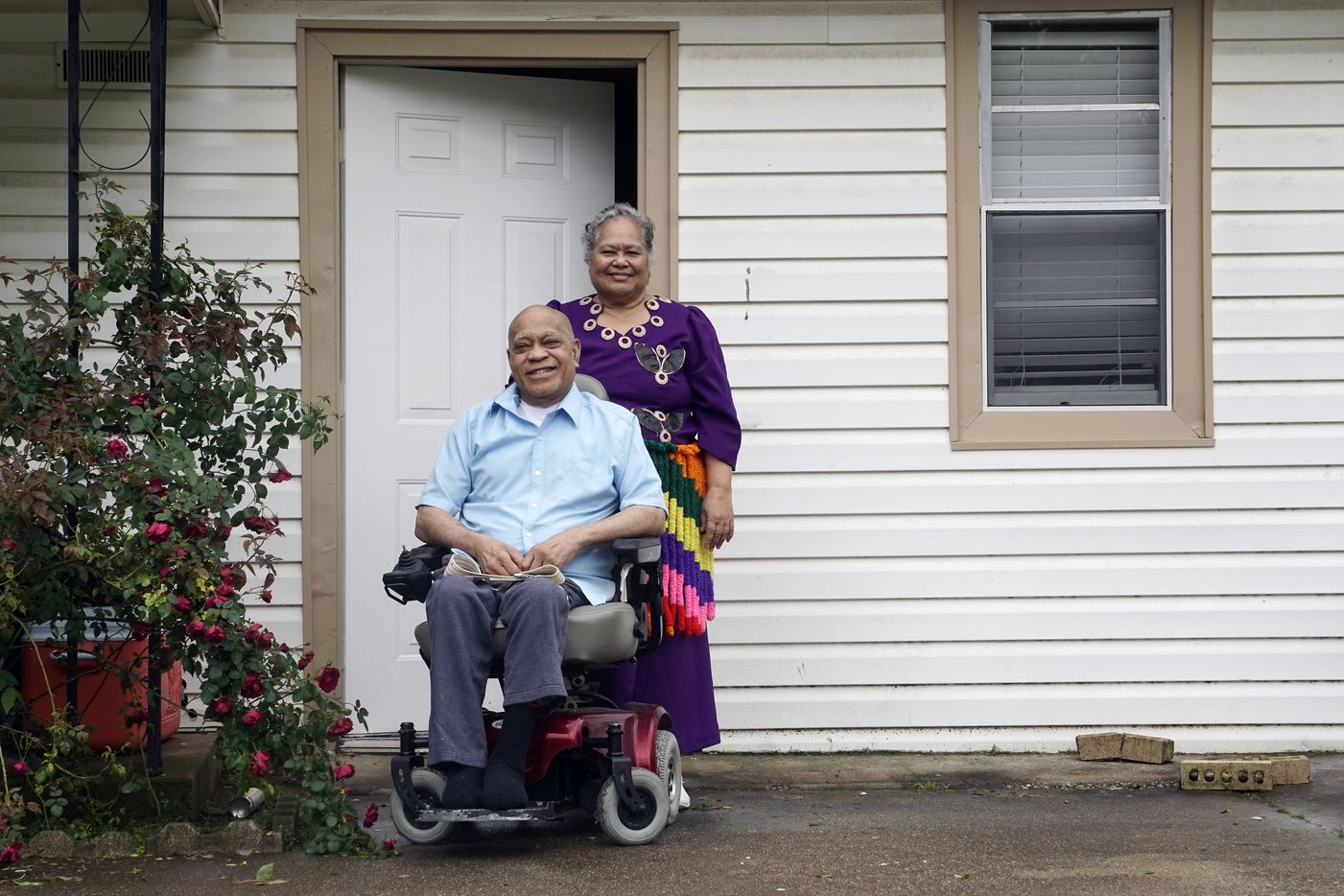 Peni and Losa Asaeli at their home in Euless, Texas on Wednesday, April 24, 2019.  (Lawrence Jenkins/Special Contributor)