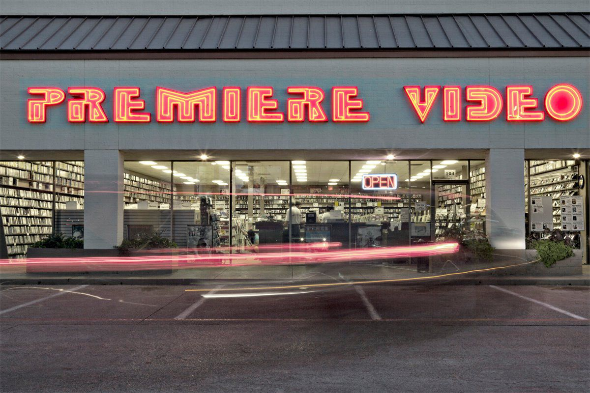 Sooner than later, the Premiere Video sign will be turned off and removed from its longtime storefront on Mockingbird. I can't imagine.