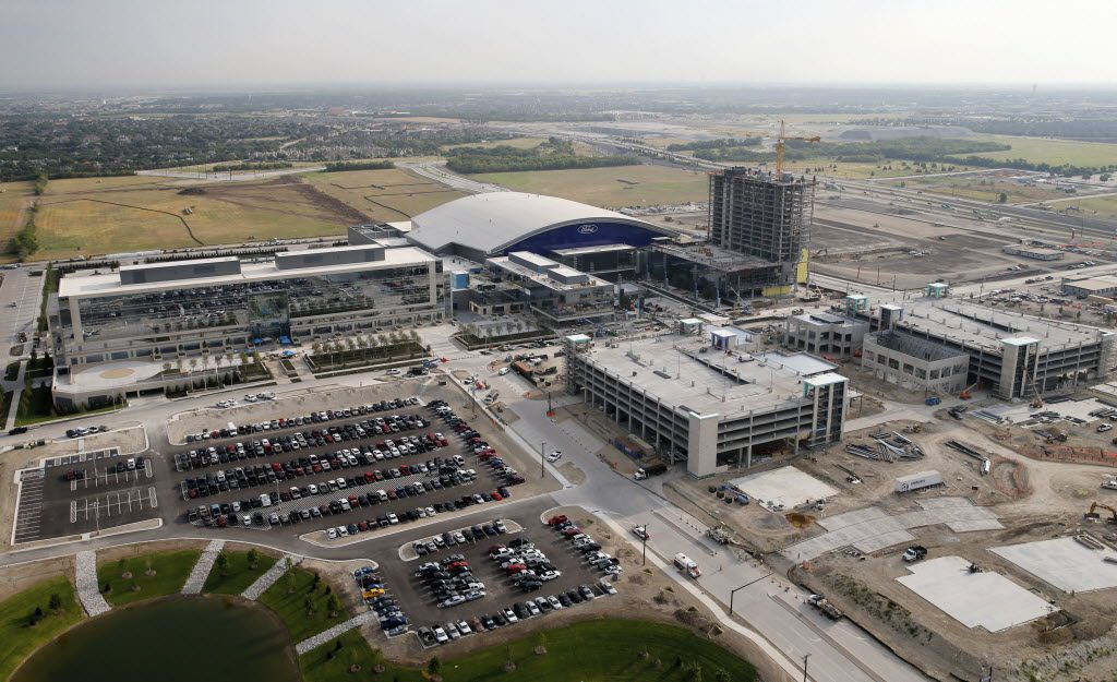 Construction continues on Frisco's multi-use event center at The Star, the new Dallas Cowboys headquarters facility in Frisco on Wednesday, July 27, 2016. The Star, a joint project with the City of Frisco is scheduled to open in August. (Vernon Bryant/The Dallas Morning News)