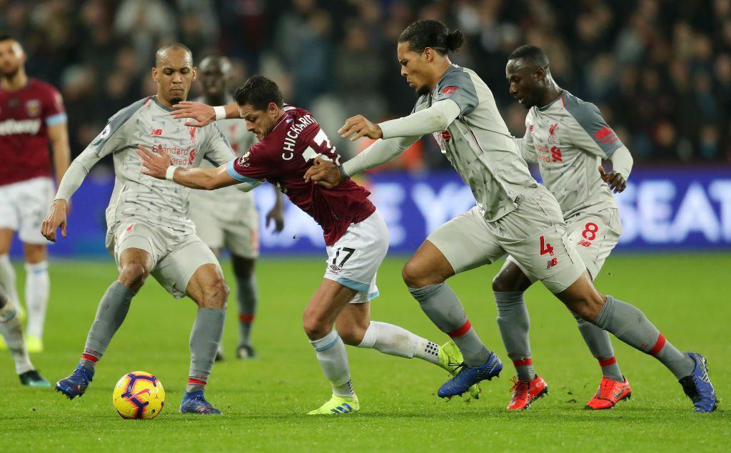 Javier Hernández ha marcado 12 goles desde su llegada al West Ham de la Liga Premier de Inglaterra. GETTY IMAGES.