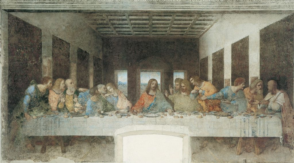 The Last Supper, by Leonardo Da Vinci. From Walter Isaacson's Leonardo Da Vinci.