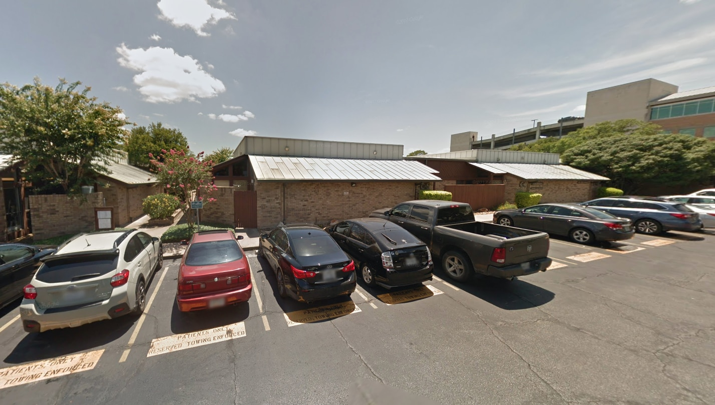 A screengrab from Google Street View of the building in Austin housing neurologist Philip Leonard's practice. His suite, C-6, is not visible from the parking lot.
