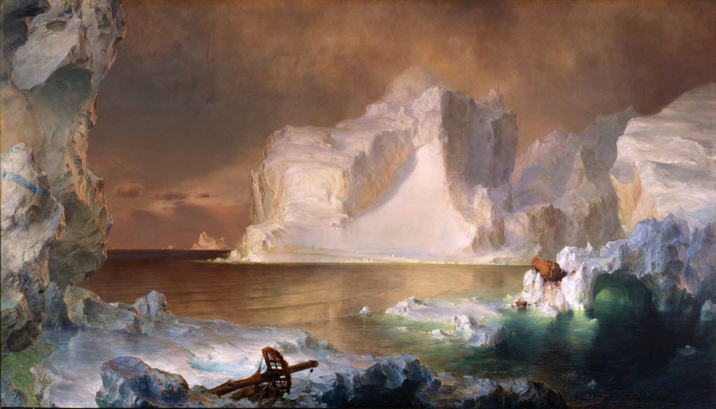 The Icebergs,  by Frederic Edwin Church, at the Dallas Museum of Art.