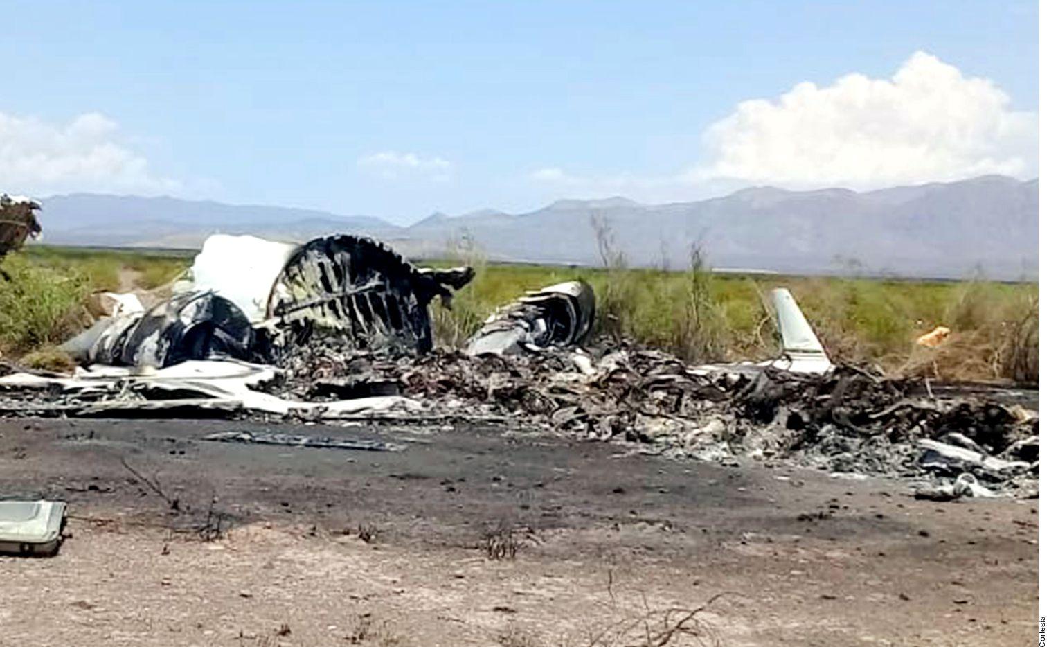 El accidente de la aeronave, en el que murieron integrantes de dos familias, se registró en Ocampo, Coahuila./ AGENCIA REFORMA