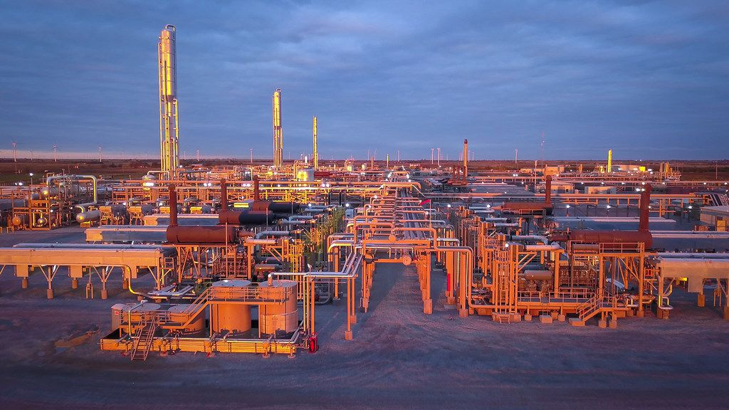 EnLink Midstream's natural gas processing plant in Kingfisher, Okla.