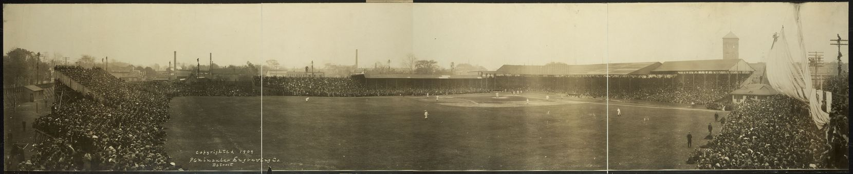 Bennett Park, an early forerunner to Tigers Stadium in Detroit, hosted a World Series game between the Tigers and Chicago Cubs in 1909.