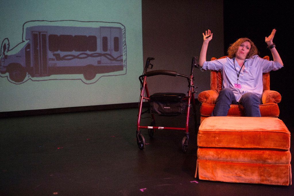 Sherry Jo Ward wrote and stars in an autobiographical, one-woman show, Stiff, which was a hit at the Festival of Independent Theatres at the Bath House Cultural Center in Dallas.