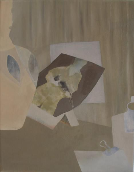 The work of Marjorie Schwarz filled an entire room, with recent small paintings such as Untitled (Mark 2012).