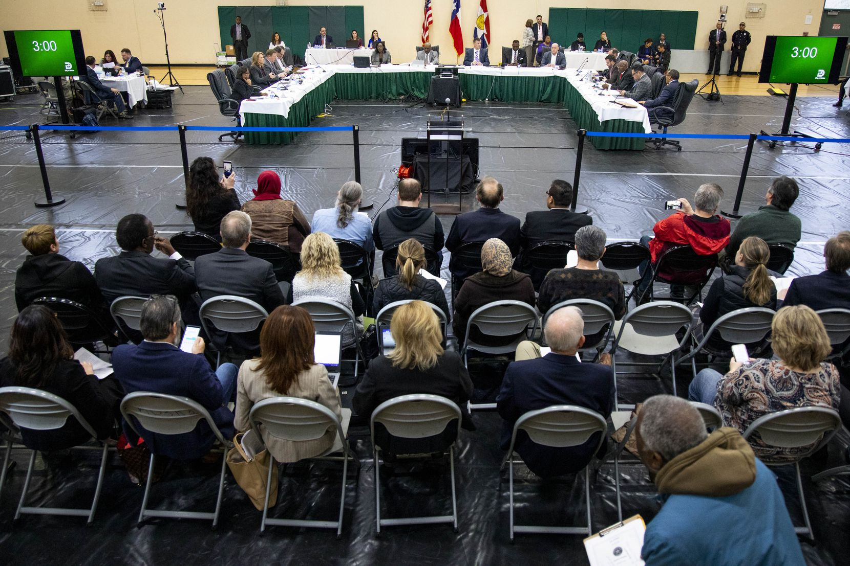 The Dallas City Council held its regular agenda meeting at the Park In the Woods Recreation Center in far southwest Dallas on Wednesday.