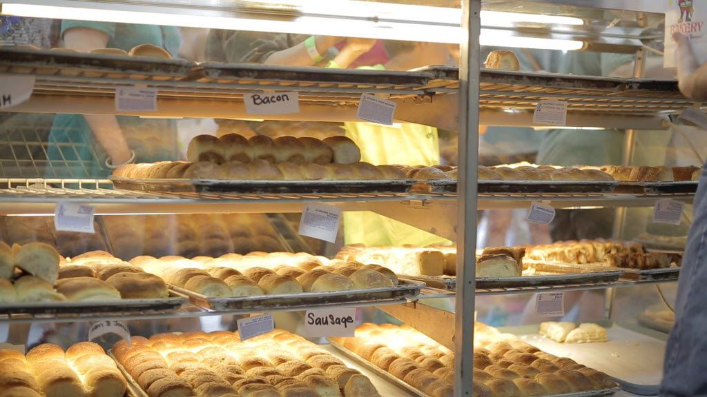 Rows of freshly-baked items make for an irresistible aroma at the Czech Stop, a famous bakery in West, Texas.
