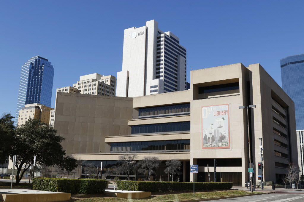 The J. Erik Jonsson Central Library in downtown Dallas. Shot on Friday, January 15, 2016.