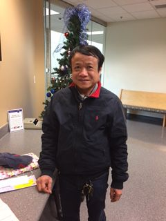 Bong Huynh is one of many North Texas homeowners who say they were ripped off by disappearing roofers. This photo was taken in small claims court when he won his case.