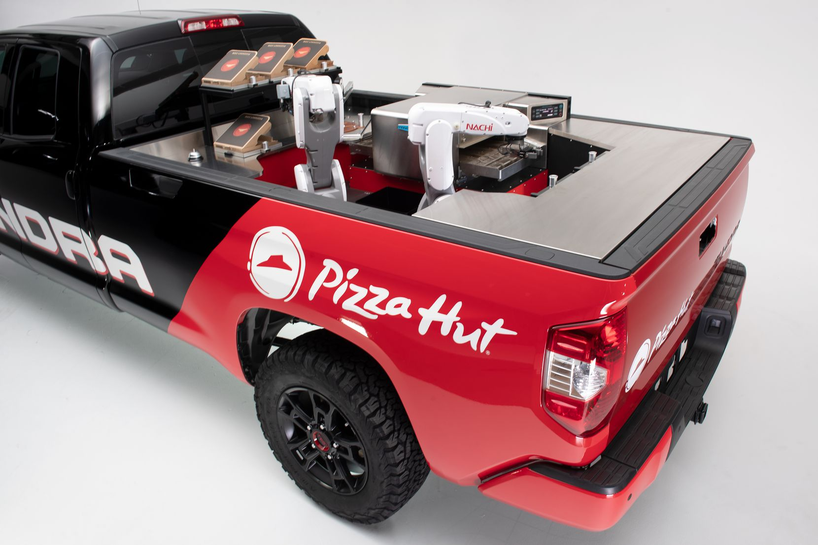 The prototype Tundra PIE Pro developed by Toyota and Pizza Hut.