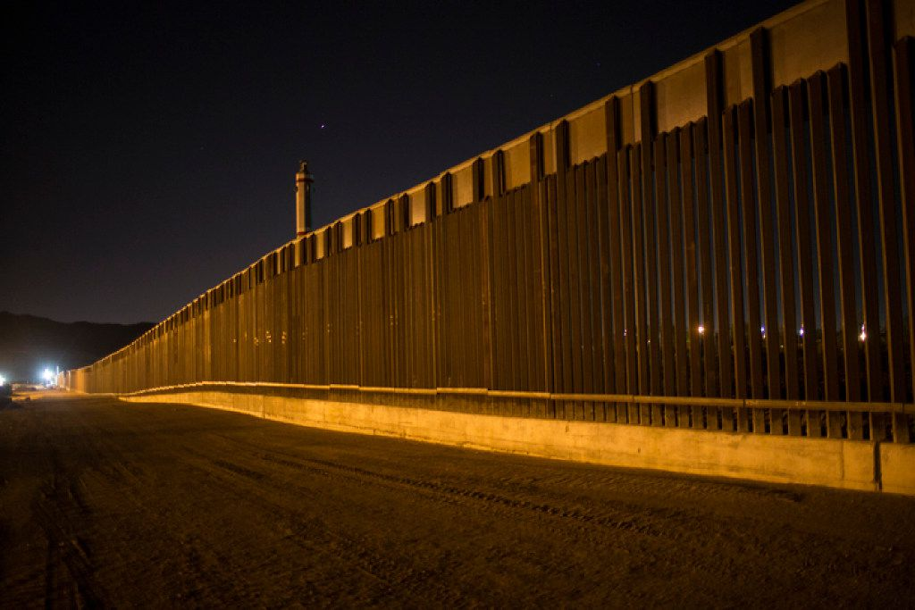 In this March 30, 2017 file photo, a portion of the new steel border fence stretches along the US-Mexico border in Sunland Park, N.M. Congressional Republicans have a new talking point about President Donald Trump's border wall: It's not really a wall at all. The issue arose this week as Congress squabbled over government-wide spending legislation including money for security measures along the U.S.-Mexico border. (AP Photo/Rodrigo Abd)