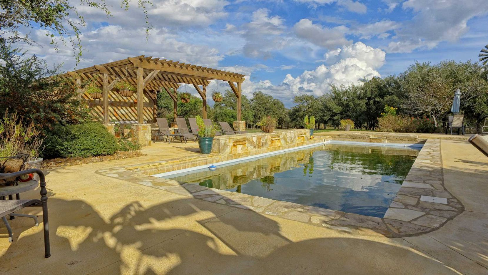 Stormbreak Ranch has a pool and other outdoor features.