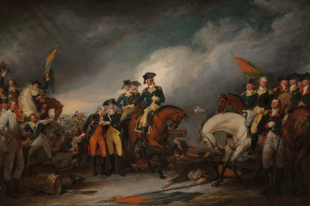 The Capture of the Hessians at Trenton, December 26, 1776, oil on canvas, 1786 1828. (From The British Are Coming, by Rick Atkinson.