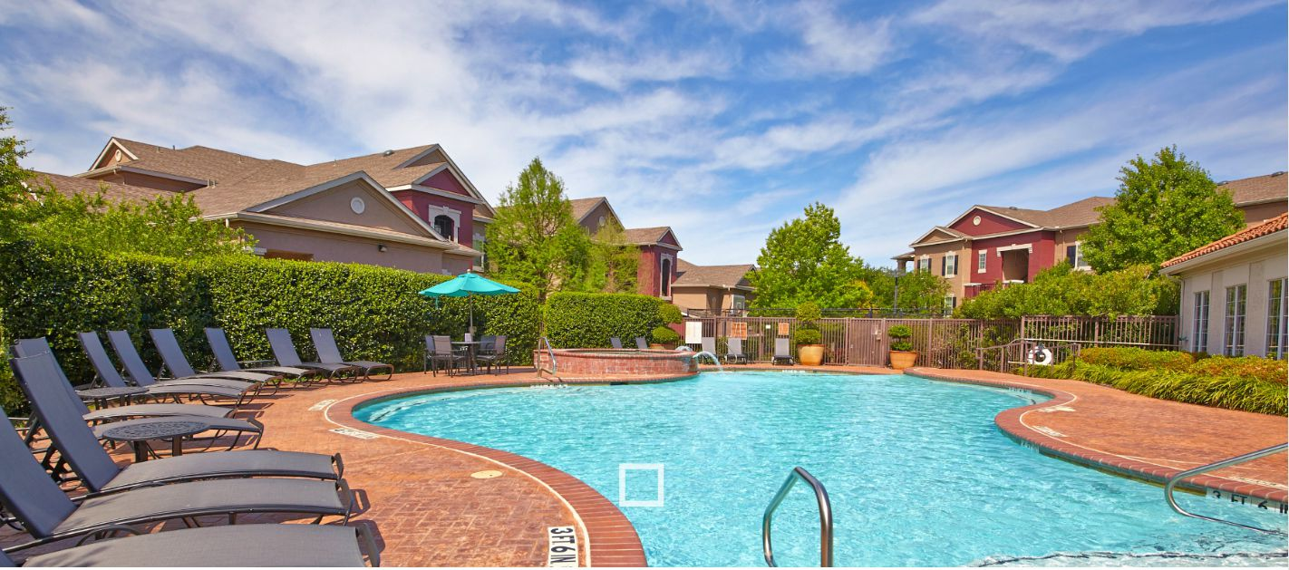 The Auberry at Twin Creeks apartments are in Allen.