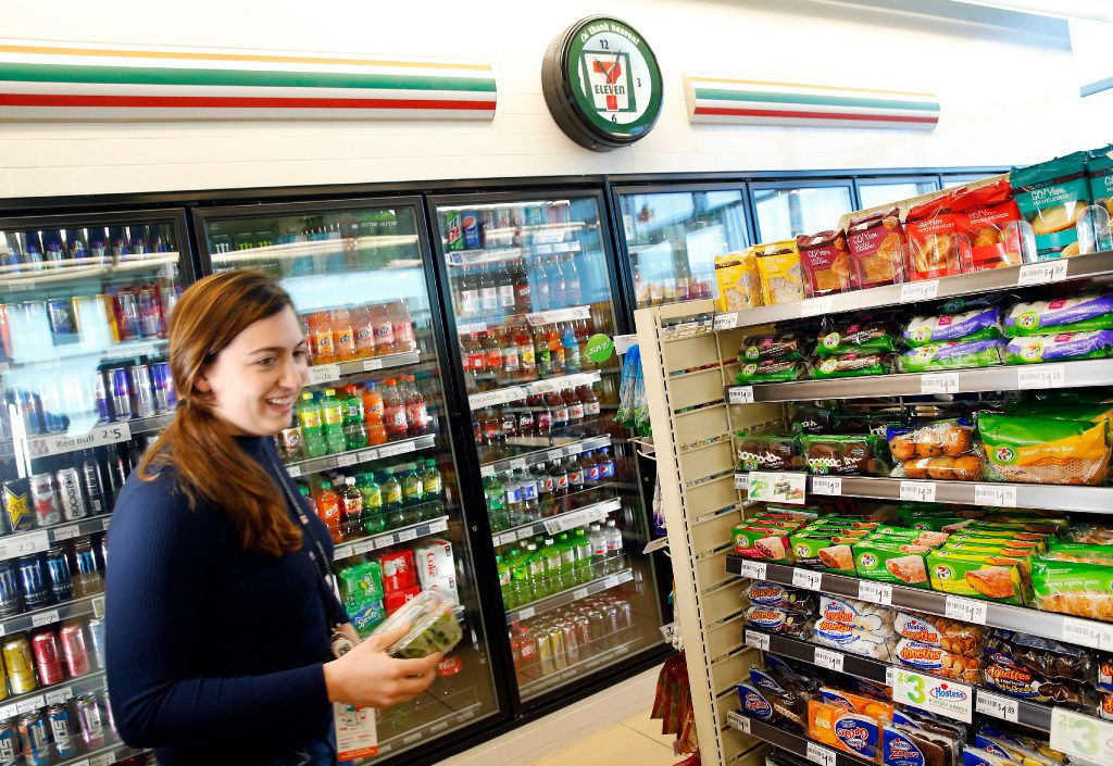 7-Eleven's new 7-Select Go! Smart and Go! Yum products are pictured in a convenience store located at it's new headquarters building in Irving, Texas, Monday, January 23, 2017. (Tom Fox/The Dallas Morning News)