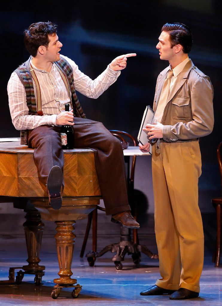 Etai Benson (as Adam Hochberg) (left) and Garen Scribner (as Jerry Mulligan) in the national touring production of An American in Paris, presented by Dallas Summer Musicals at Music Hall at Fair Park in Dallas.
