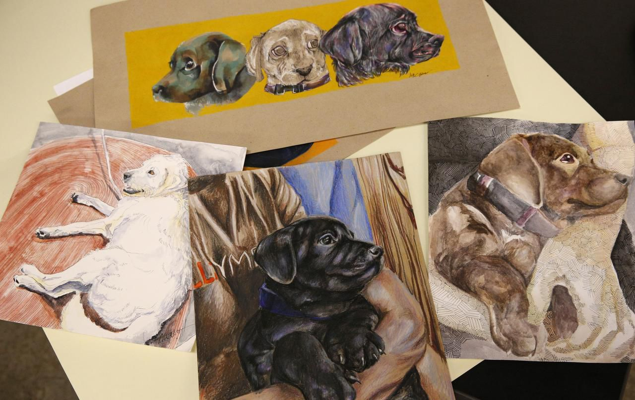 Drawings by Booker T. Washington students are collected as a part of the nonprofit Artists for Animals project.
